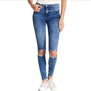 NEW Free People Blue Skinny Jeans 28